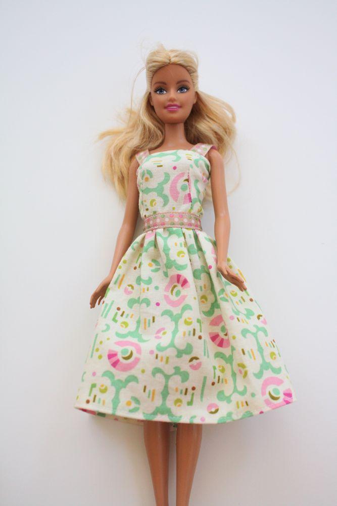 Cute, classy, and simple DIY Barbie dress. Easy, step-by-step sewing tutorial.
