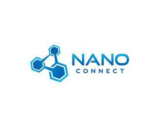 Nano Connect Logo design - Great logo brand for nanotech / biotech research. Price $450.00