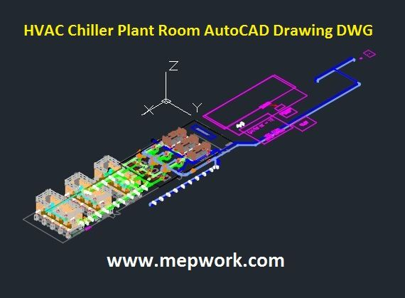 Hvac Chiller Plant Room Autocad Drawing Dwg Hvac