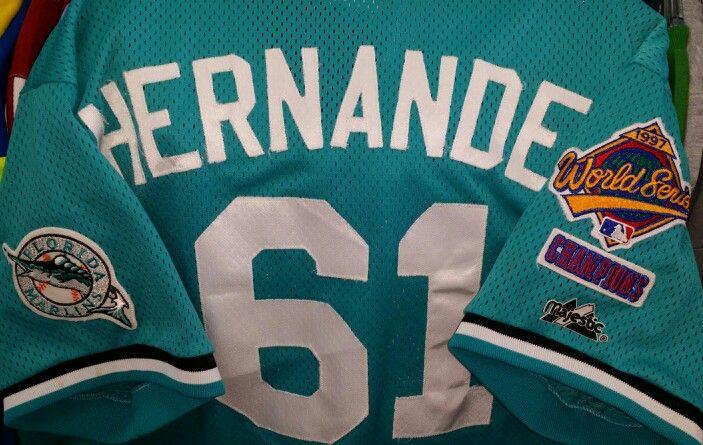 Rare Vintage MAJESTIC Florida Marlins Livan Hernandez 1997 World Series Jersey #jerseys#miamimarlins#floridamarlins#baseball#mlb#ebay#ebayseller