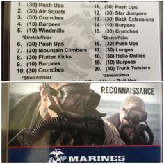 Marine workout :-)  Gonna need to start doing this!