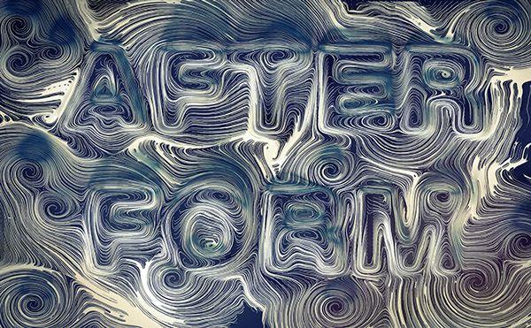 Oleg Soroko for After-Form / Curve Descent Pattern #3D #typography #render