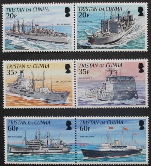 Royal Navy connections with Tristan da Cunha 2nd series stamps 2003 Ref: 787-792