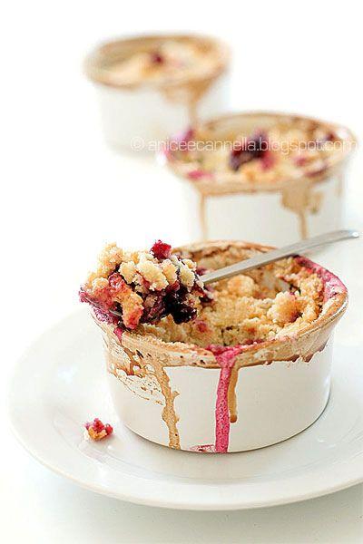 cherry crumble with flOwer milk gelato