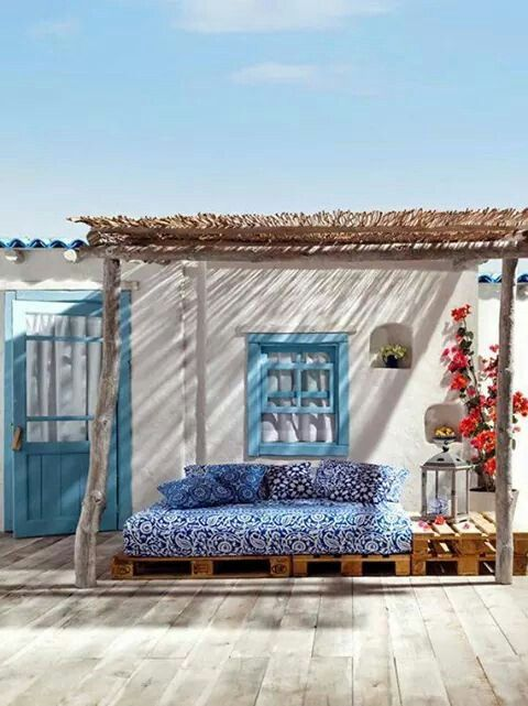 Cute Turkish porch...would be easy to do