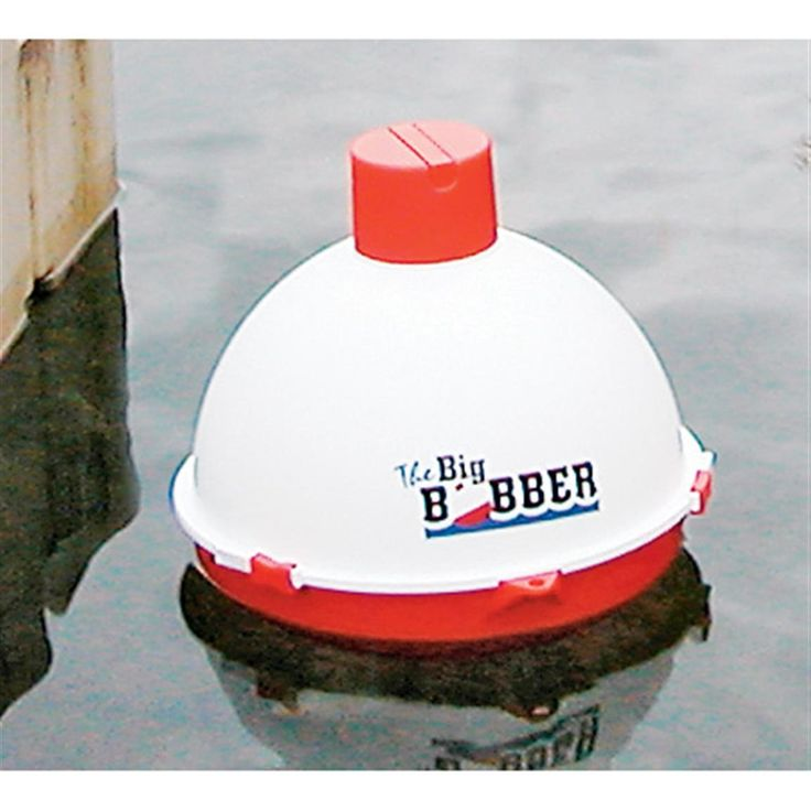 "The Big Bobber floating cooler - Great idea + cute. It floats just like a genuine bobber... but a little bobber can't hold 12 cans and a load of ice for your fishing, boating and swimming fun! It's American-made strong, light and very portable, with built-in handle. It's insulated to keep cold while tied to your boat or innertube for a ride down the river or an afternoon's fun at the pool or the beach. Measures approx. 13 1/2"" in diam. and weighs approx. 4 3/4 lbs."