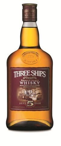 Proudly South African - Three Ships Whiskey - Awarded Best Blended Whisky in the World - May 2014.  Made in Wellington, 1 hour's drive out of Cape Town - in the Wineland Region of the Western Cape, by Master Whisky Distiller - Andy Watts