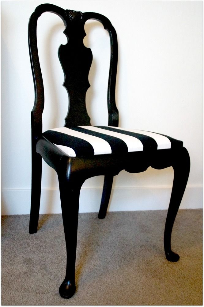 These Classic Vintage Chairs Have Been Freshly Finished In Satin Black. Room  ChairsDining ChairsReupholster ...