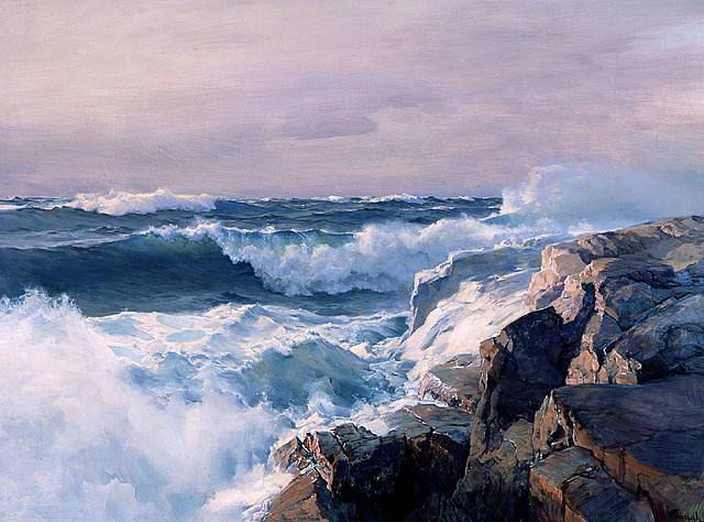 Great lesson on seascape painting from Stapleton Kearns - California Plein Air Painters