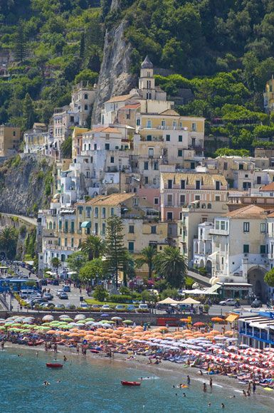 The town of Amalfi in Italy