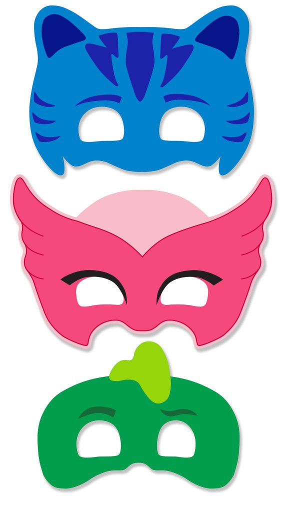 PJ Masks Inspired Printable Masks Instant Download