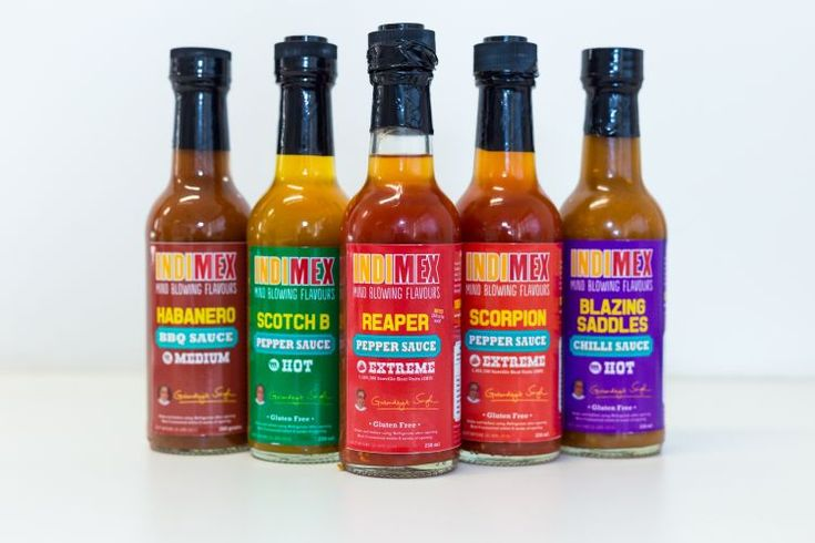 New Take-Home Chilli Sauce Range available now from IndiMex! Mind blowing flavours! 1. BBQ Habanero Sauce - Medium 2. Scotch B Pepper Sauce - Hot 3. Blazing Saddles Chilli Sauce - Hot 4. Scorpion Pepper Sauce - Extreme 5. Reaper Pepper Sauce - Extreme