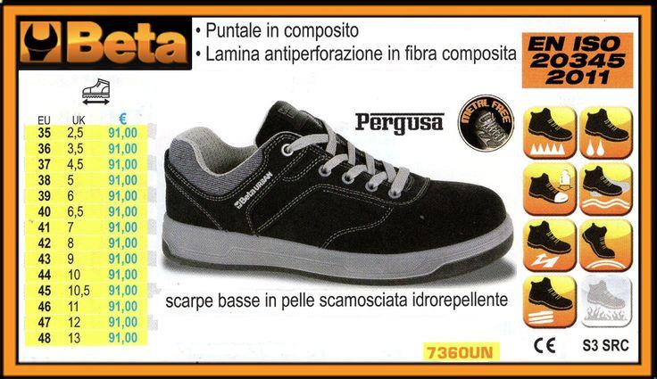 BETA scarpe basse in pelle scamosciata idrorepellente