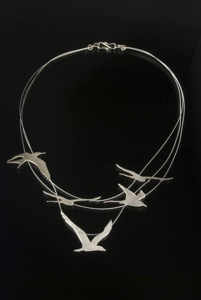 Dana Cassara bird necklace