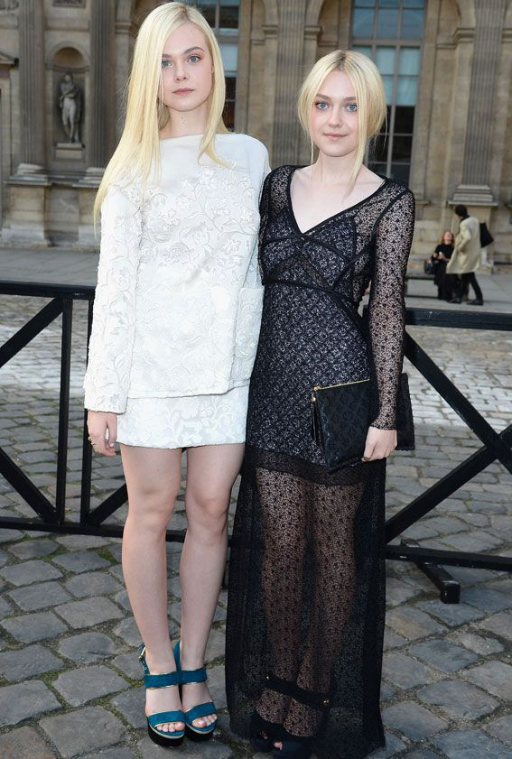 12 Stylish Celebrity Sisters We Love - Elle and Dakota Fanning from #InStyle