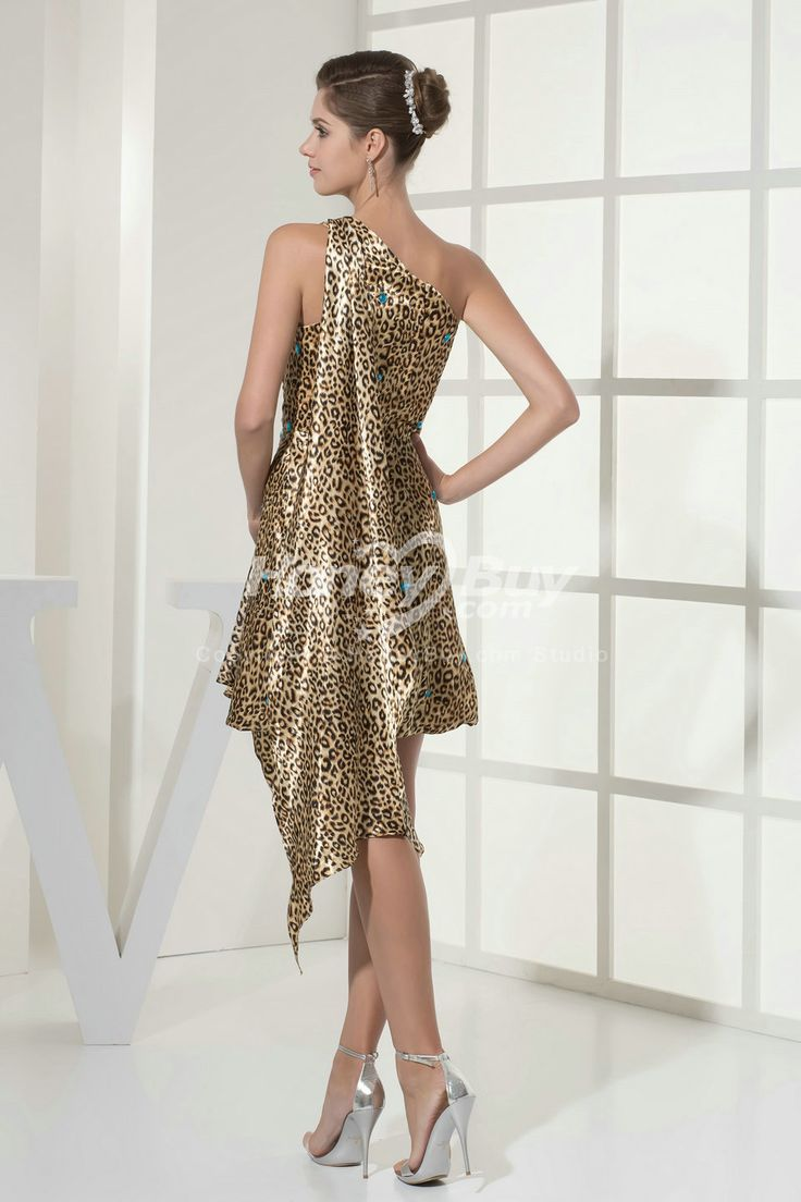 48 best wedding ideas images on pinterest leopard prints colored leapird dresses one shoulder leopard print short mother wedding dress ombrellifo Choice Image