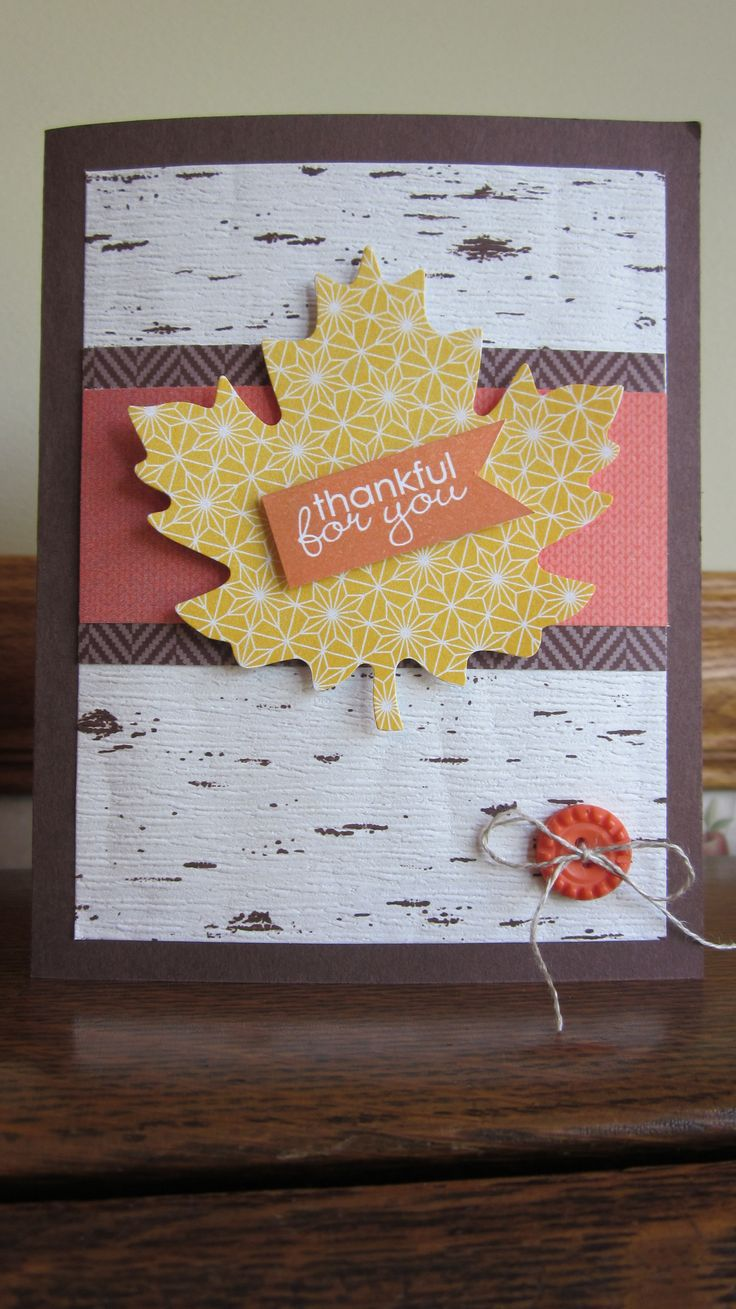 Stampin' Up! Thankful Tablescape Simply Created kit my own twist!