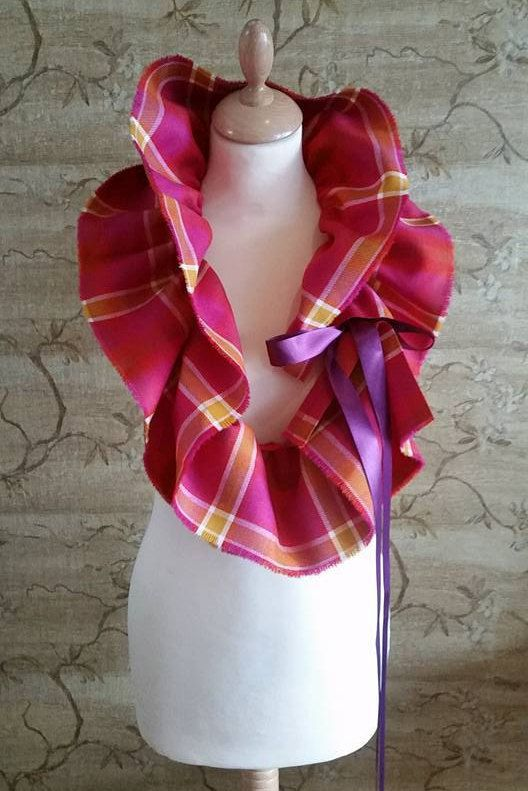 Ladyboys of Bangkok Exclusive Tartan Ruffle Scarf by LoullyMakes on Etsy