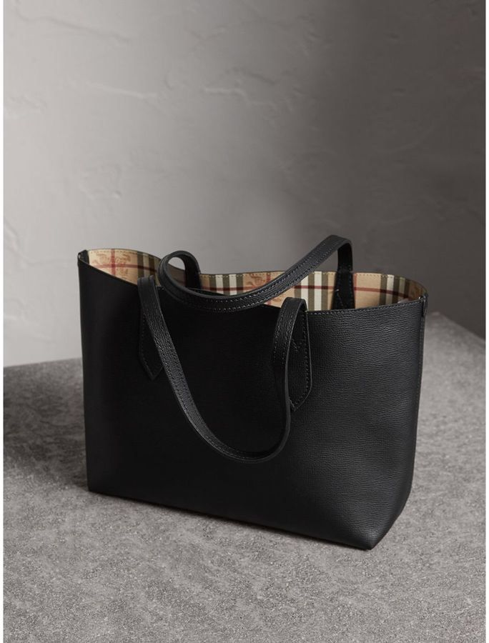 3f5740403169 Burberry The Small Reversible Tote in Haymarket Check and Leather.   reversibletote  burberry  blacktote  handbag  handbags  purse  bags  tote   fashion ...