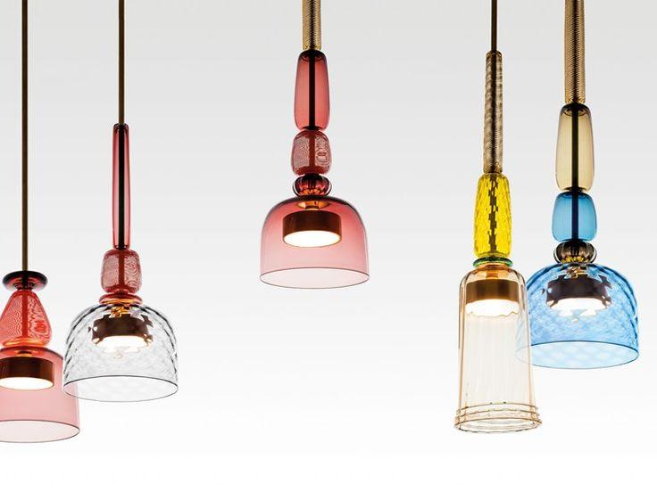 Murano glass pendant lamp FLAUTI by GALLERY S.BENSIMON design Giopato