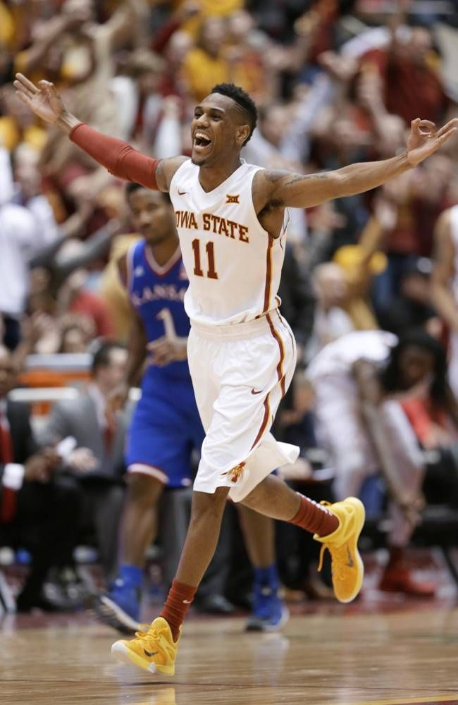 Iowa State guard Monte Morris. No. 11 Iowa State beats 9th-ranked Kansas 86-81
