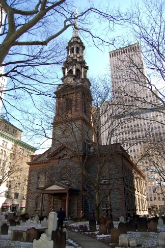 St. Paul's Chapel - Trinity Church in Ground Zero. Survived 9/11 unscathed only 1 block away! Inside there's an incredibly impressive exposition of the chapel's function in the aftermath of 9/11. This church is also where George Washington's inauguration was held.  I've been to NYC a couple times and still haven't managed to make it here.