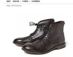 Peaky Blinders_Hudson boots. These black leather hobnail boots by Hudson are perfect.