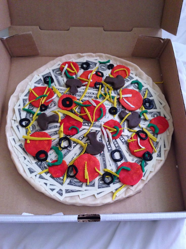 Money Pizza Gift Gift Ideas Money Cake Gifts DIY Gifts