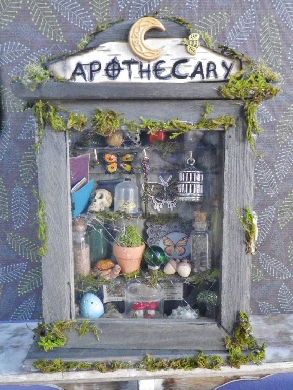 17 Best Images About Fairy Garden Shadow Box On Pinterest