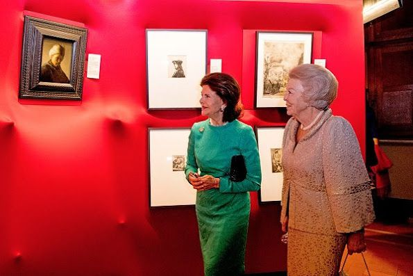 "On November 23, Wednesday, Queen Silvia and Princess Beatrix attended opening of the exhibition ""Rembrandt at the Vatican: Images from Heaven and Earth""."