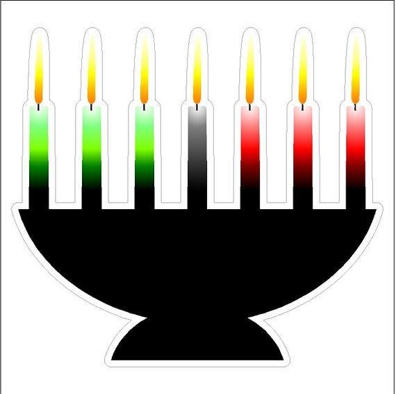 Kwanzaa Candles Static Cling Window Decals Removable And Reusable Holiday Clings In 2020 Static Cling Window Decals Candles