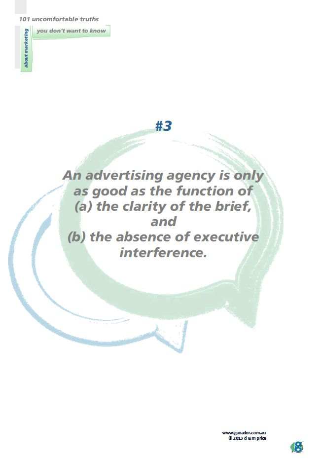 No 3 An advertising agency is...