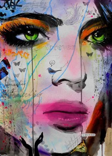 "Saatchi Art Artist Loui Jover; Drawing, ""forever intoxicating"" #art"