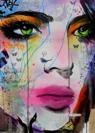 "Saatchi Art Artist Loui Jover; Drawing, ""forever intoxicating"" #art"