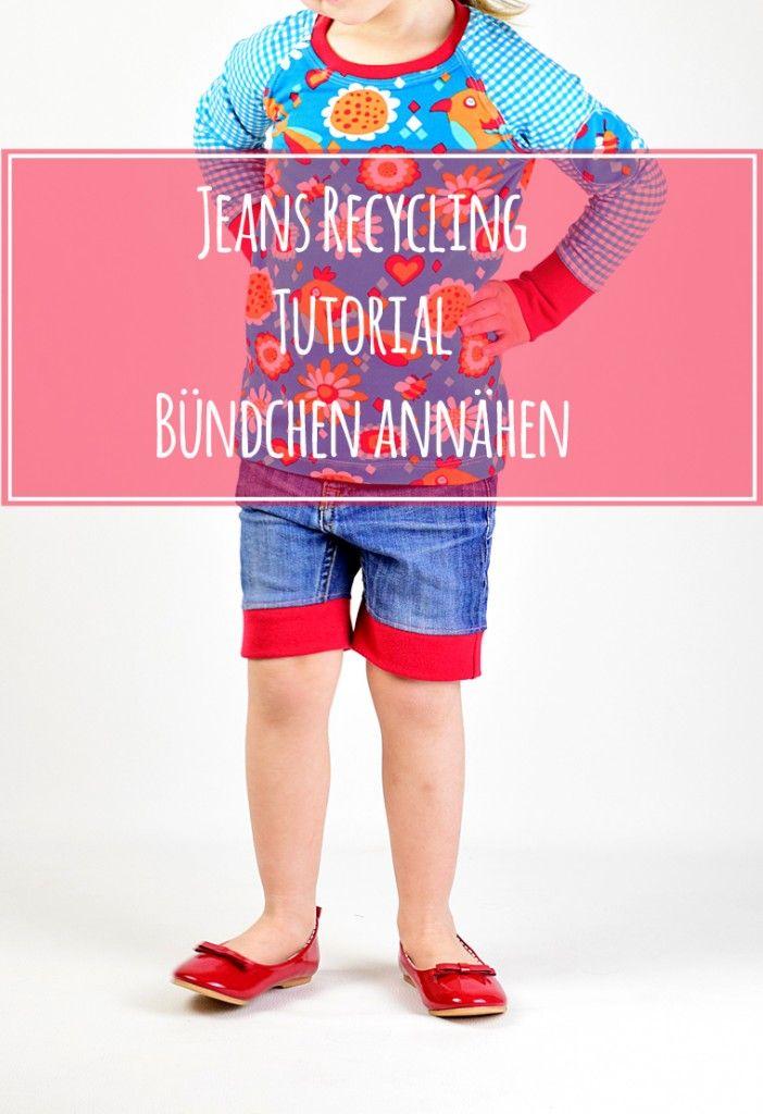 Jeans Recycling Tutorial Bündchen annähen | lillesol & pelle