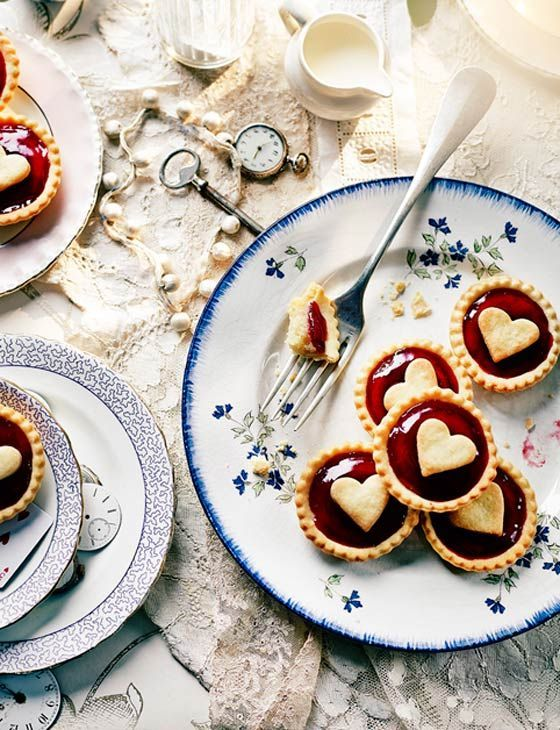 Jam tarts with hearts on  #queensbirthday #streetparty #jamtart                                                                                                                                                                                 More