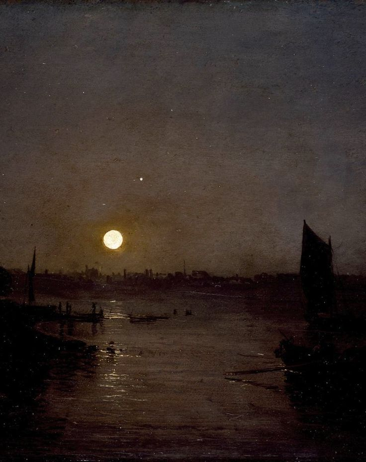 Joseph Mallord William Turner (1775–1851) - Moonlight, a Study at Millbank (detail), c. 1797 - Tate Gallery