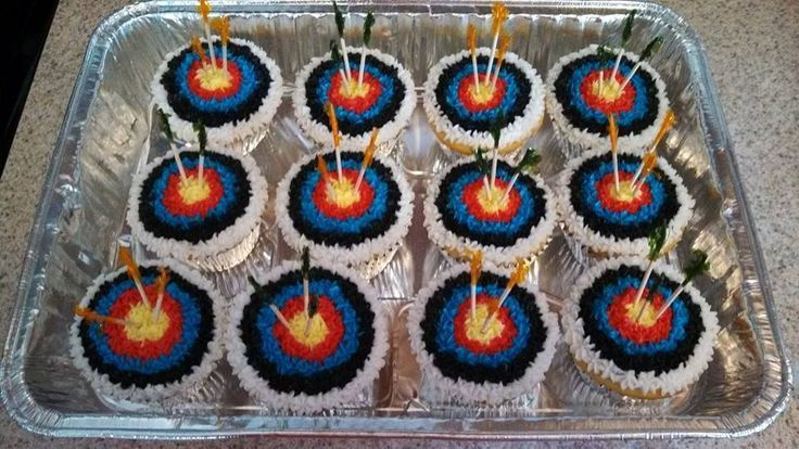 Archery Cupcakes Munchies Archery Party Birthday