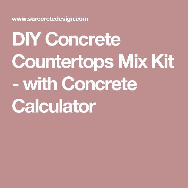 DIY Concrete Countertops Mix Kit - with Concrete Calculator
