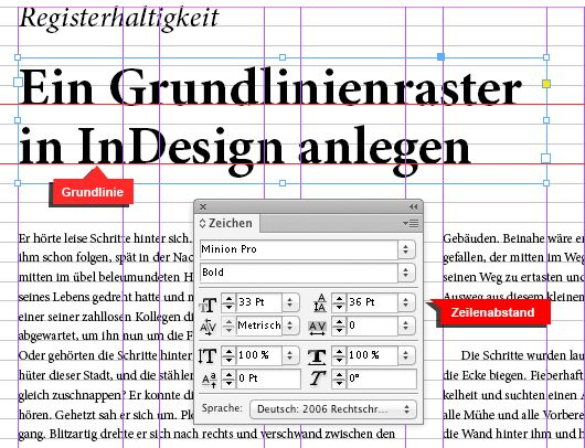 Grundlinienraster in InDesign
