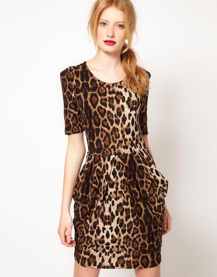 leopard print--I love this dress