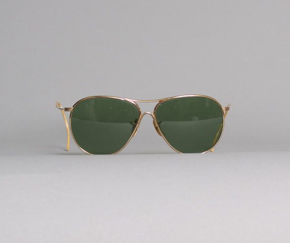 vintage 50s men's american optical aviator sunglasses