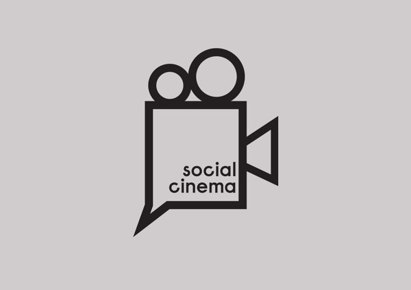Social cinema - Logo by Elizabeth Tyrer, via Behance
