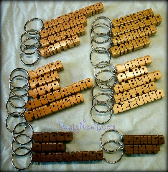 Wood Name Keychains  25 NAME SPECIAL  Great Christmas Stocking Stuffers
