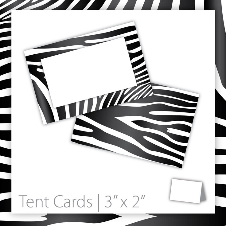 Animal Print Tent Cards : Blank . PRINTABLE . Zebra . INSTANT Download ~ $5.00 ~ Zebra tent card, zebra print, printable tent card, printable Zebra tent card, Zebra print cards, animal print tent card, jungle tent card, jungle theme, jungle birthday, wild animal tent card, wild animal party #jungleparty #junglebirthday #jungletheme ~ https://www.etsy.com/listing/123042894