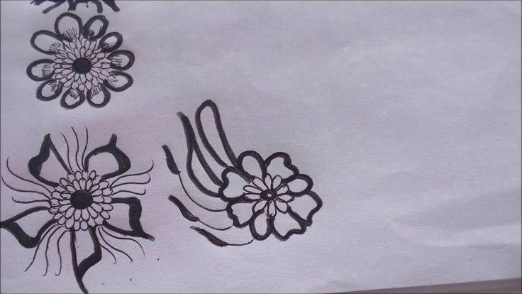 How to draw a henna flower by Hemlata's Rangoli on youtube