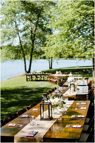 Blush And Ivory Al Fresco Lakeside Wedding Creative Wedding