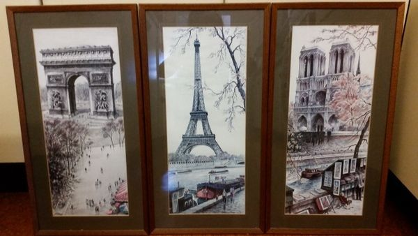 Vintage Retro prints of Paris