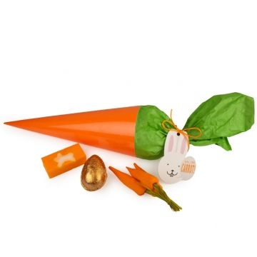 Carrot Cone- Was für eine riesige Karotte! Wir sind so große Fans von Karotten, weil sie gesund für unsere Augen sind, doch wir sind ein ebenso großer Fan dieser riesigen Karotte, weil wir mit ihr Unmengen an Spaß in der Badewanne haben können.  Enthält: Bunch of Carrots, Golden Egg, Carrot Seife 100g