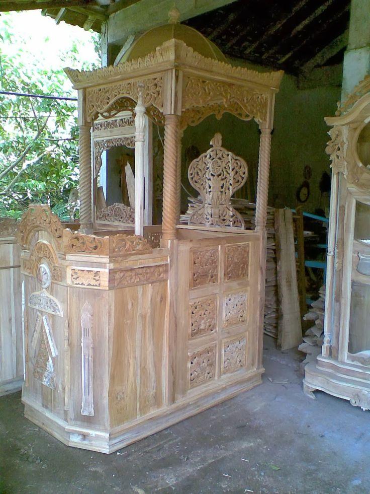 Mimbar Masjid Minimalis, mimbar masjid Kayu Jati